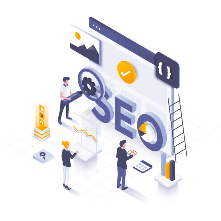 SEO-isometric-illustration