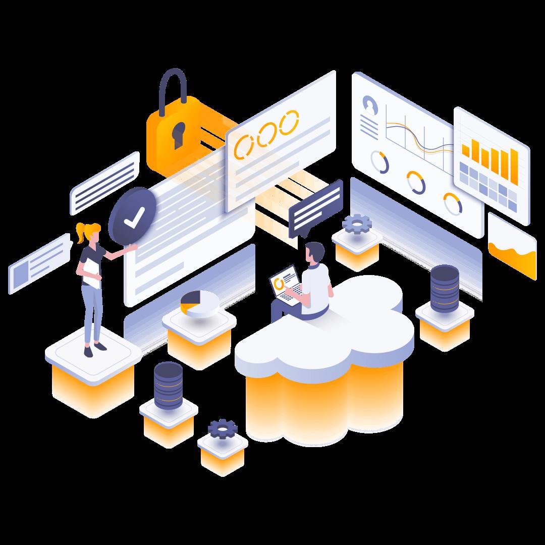 hosting-isometric-illustration